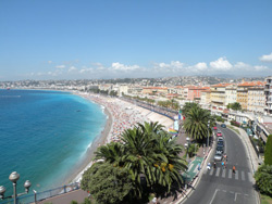 The beach in Nice