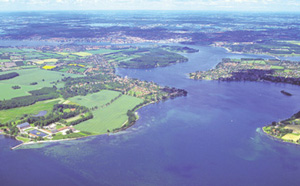 Svendborg is located beautiful by the water