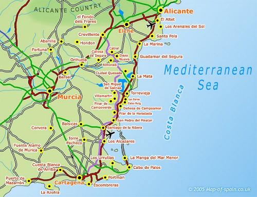 Holiday Map Of Spain.Costa Blanca Holiday Rentals Villa Rentals Vacation Rentals